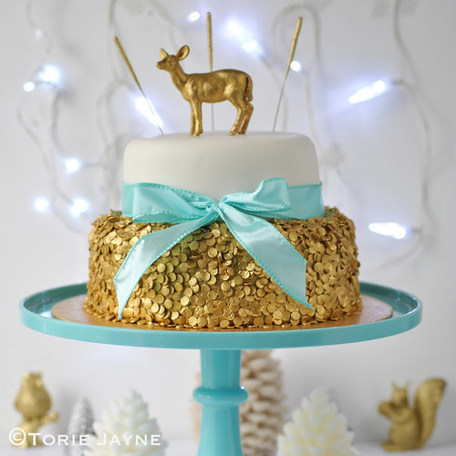 Sequin Christmas Cake 3