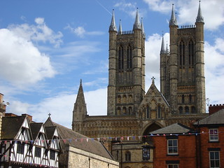 The towers of Lincoln cathedral