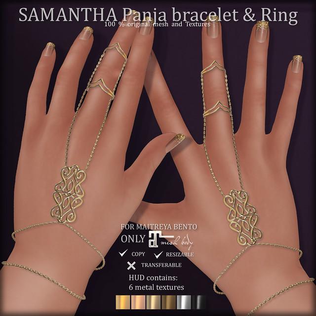 SAMANTHA PANJA BRACELET & RINGS (COSMOPOLITAN)