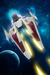 White Arrow Starfighter... IN SPACE!!