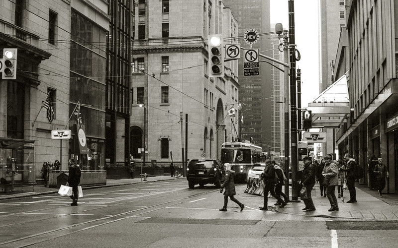 Crossing King at Yonge on Saturday Nov 17