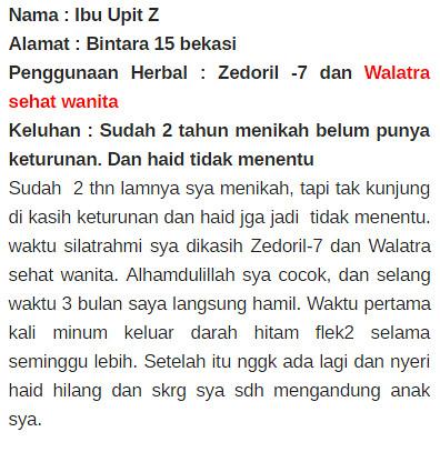 Harga Asli Walatra Bersih Wanita