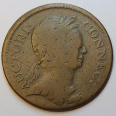 1785 Connecticut copper obverse