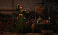 Alchemy, yes, she has potions..