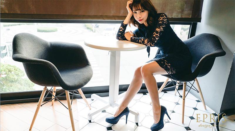 藍色婚鞋配色婚鞋百搭鞋款拉長顯瘦增高藍色婚紗搭配藍色婚鞋高跟鞋新娘鞋同色系搭艾佩絲EPRIS婚鞋
