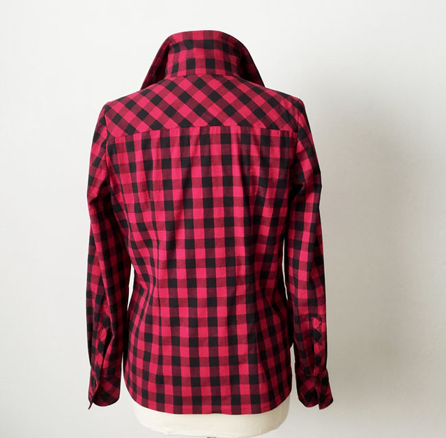 check shirt on form back view