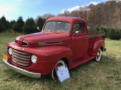 The 69 year old truck called Lucy at the Christmas tree farm
