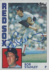 1984 Topps - Bob Stanley #320 (Pitcher) - Autographed Baseball Card (Boston Red Sox)