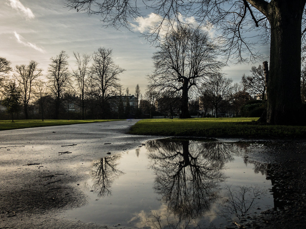 Kensington Gardens after a rainy morning