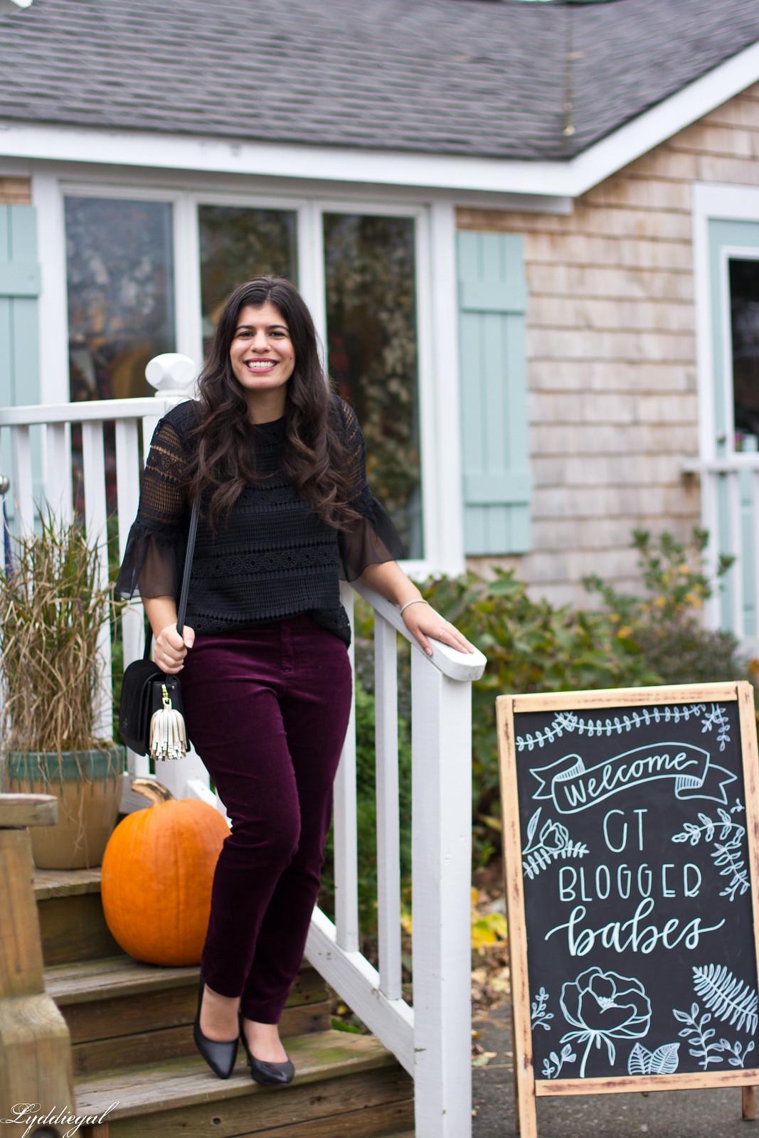 black lace blouse, burgundy velvet pants, fall outfit-17.jpg