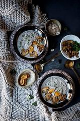 Rustic Garlic Mushroom Soup