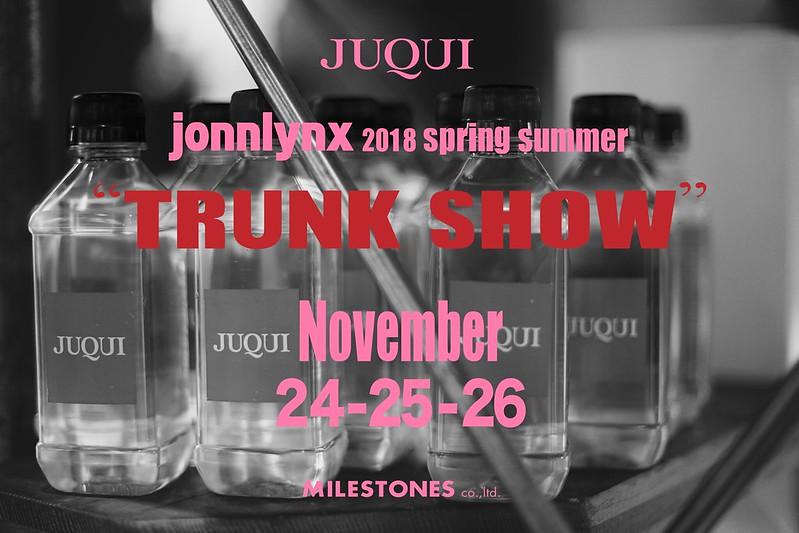 """Jonnlynx Spring summer 2018 """" TRUNK SHOW """""""