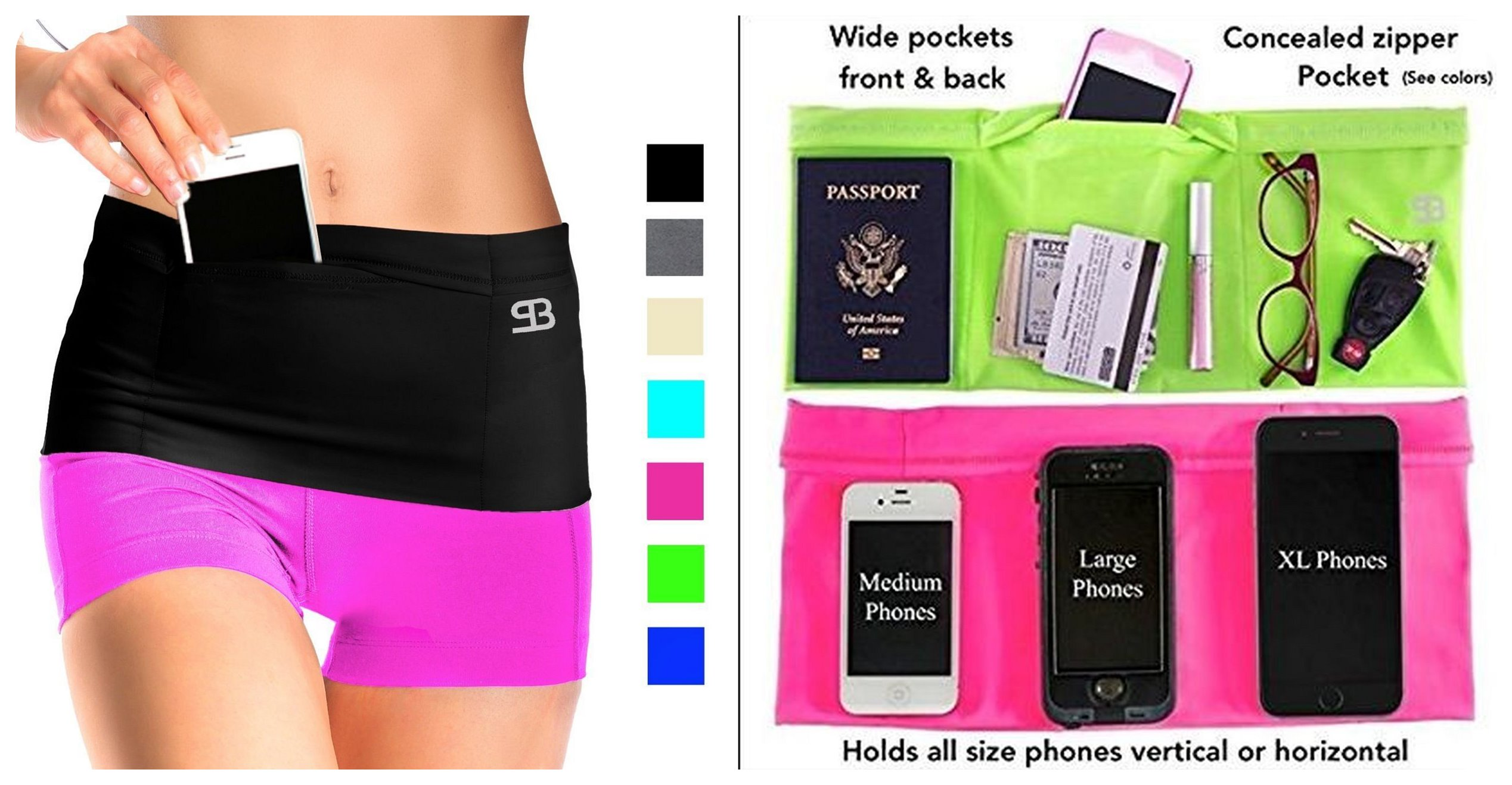 travel running money belt