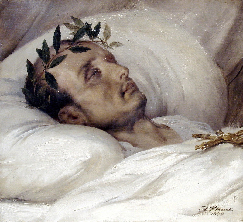 Napoleon on his deathbed by Horace Vernet, 1826