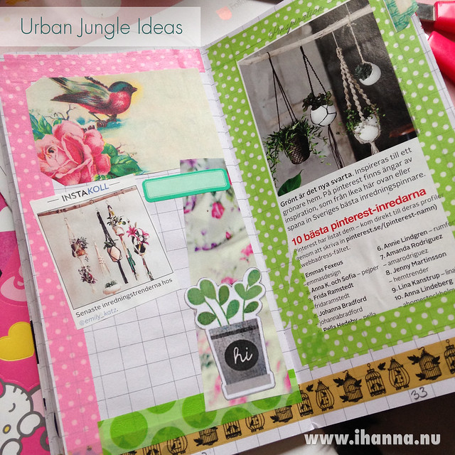 Randomosity Traveler's Notebook vol 1: urban jungle ideas