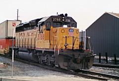 Union Pacific SD40-2 No. 3788 Heading Toward Los Angeles Harbor