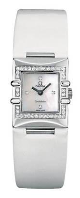 Đồng hồ nữ Omega Constallation Quadra đính 42 viên kim cương, mới 90% có hộp