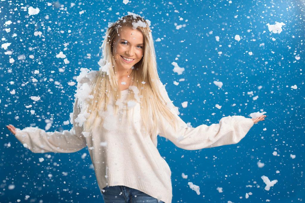 Paulas sniega fotosesija