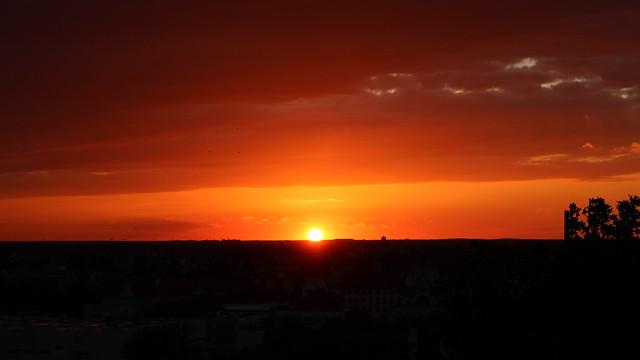 Sonnenuntergang vom Humboldtbunker aus