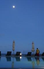 Moon over Indian Ocean