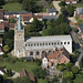 St James Church in Nayland - Suffolk UK aerial