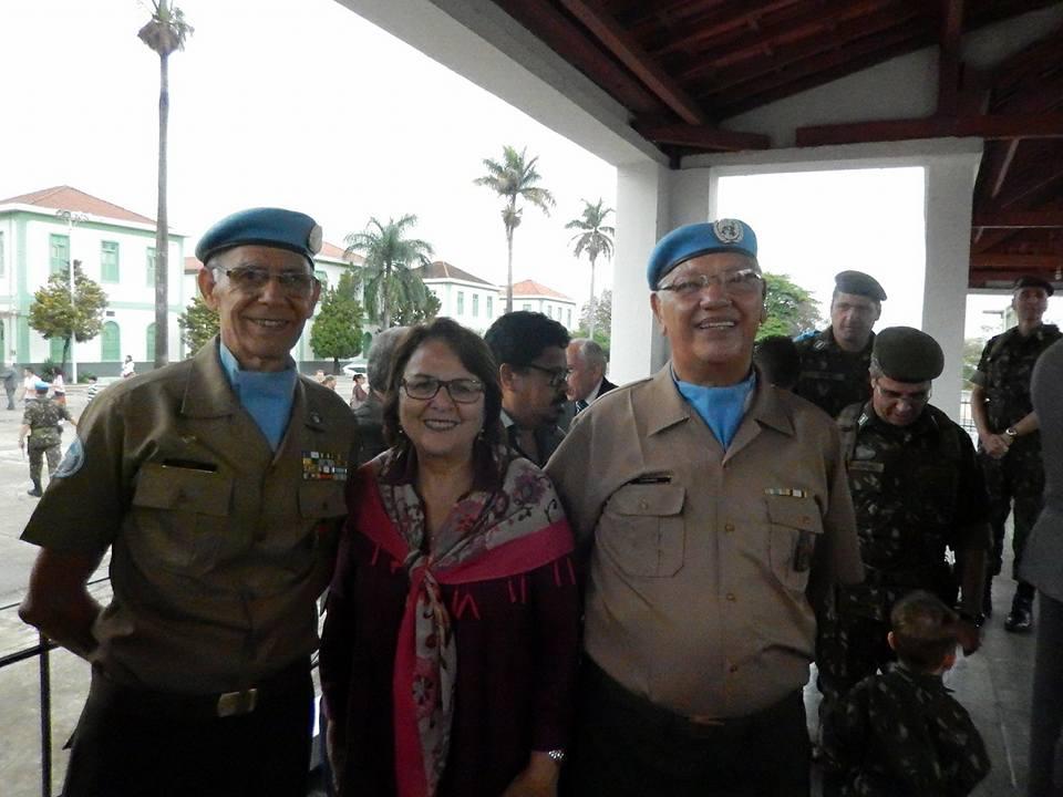 Deputada Jô Moraes participa de evento em homenagem a soldados brasileiros que participaram de missões de paz da ONU - Créditos: Reprodução/Facebook