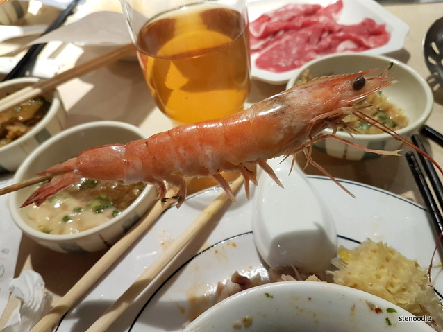 shrimp on a skewer