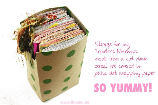 So yummy - polka dot storage blogged by iHanna - make your own storage #travelersnotebook #journaling #notebooks