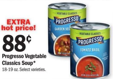 image regarding Printable Progresso Soup Coupons called 0.63 offer upon Progresso Soup at Meijer with coupon