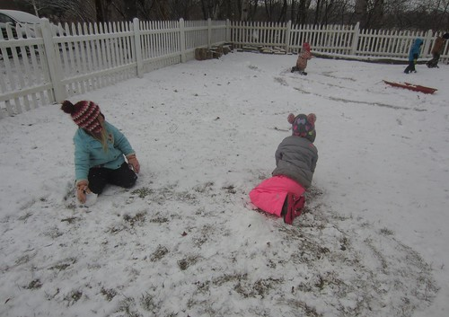 rolling snow balls