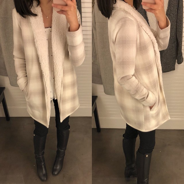 Abercrombie Sherpa-Lined Cardigan, size XS