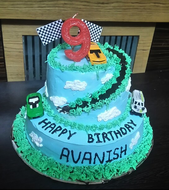 Car Track Cake by Asmitakalkundre of Cake Mania Celebration of Relations
