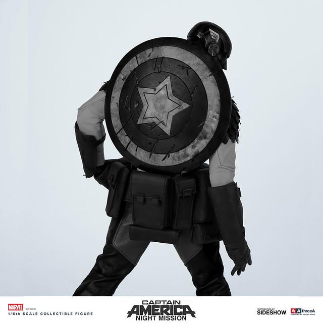 threeA × Marvel【暗夜行動 美國隊長】Night Mission Captain America 1/6 比例人偶作品