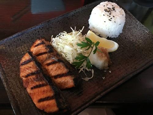 Japanese gastropub Izakaya Ginji grilled Salmon in San Mateo, CA