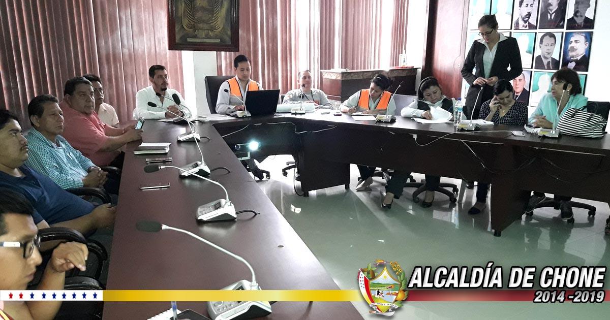 Organizan planes de contingencia para demolición de edificios municipales de Chone