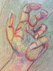 My left hand in #crayon