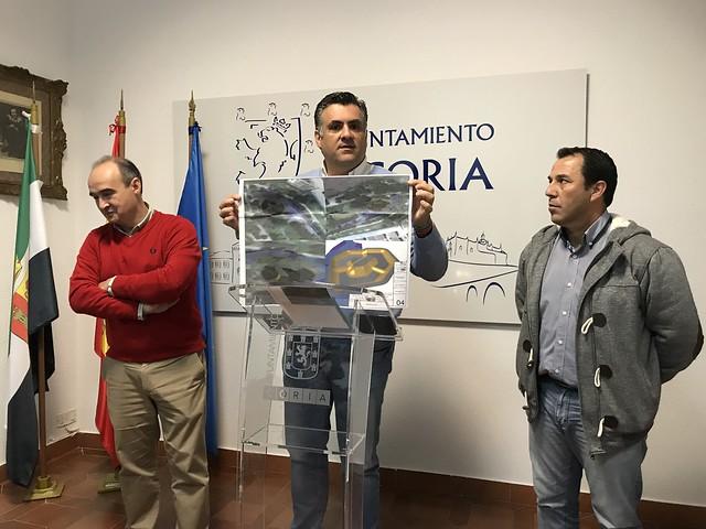 El Alcalde de Coria presenta el Proyecto Básico y de Ejecución de Parque para Deportes sobre Ruedas