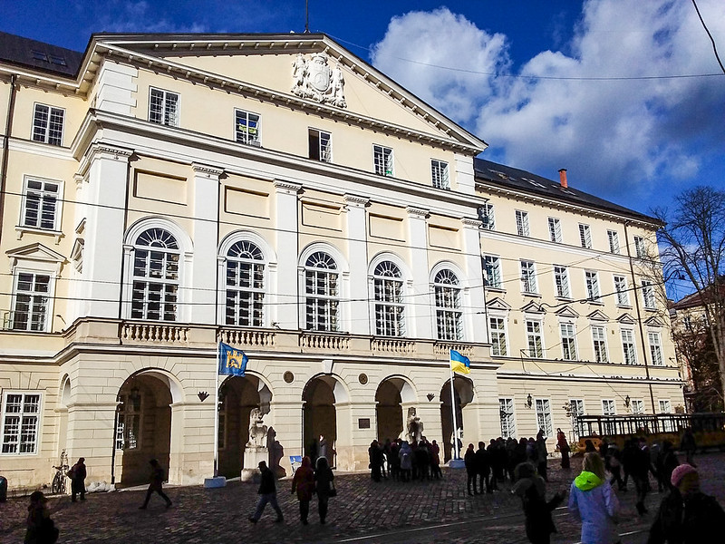 Lviv - Rynok Meydanı ve Belediye Binası (Town Hall)