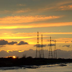 Electric pylons over the Ribble at Preston