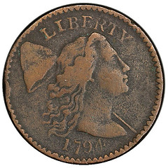1794 Starred Reverse Cent obverse