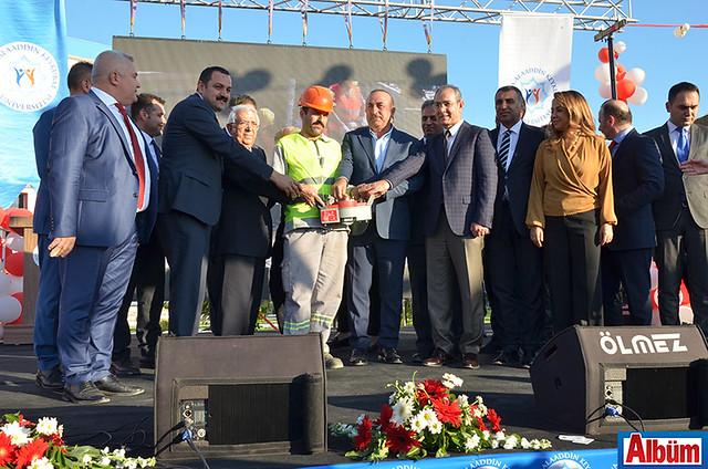 Eğitim Fakültesi'nin temel atma töreni Bakanı Çavuşoğlu ve protokol üyeleri tarafından gerçekleştirildi.