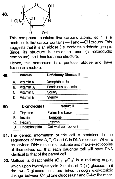biomolecules test questions