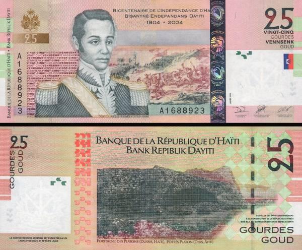 25 Gourdes Haiti 2004, P273a