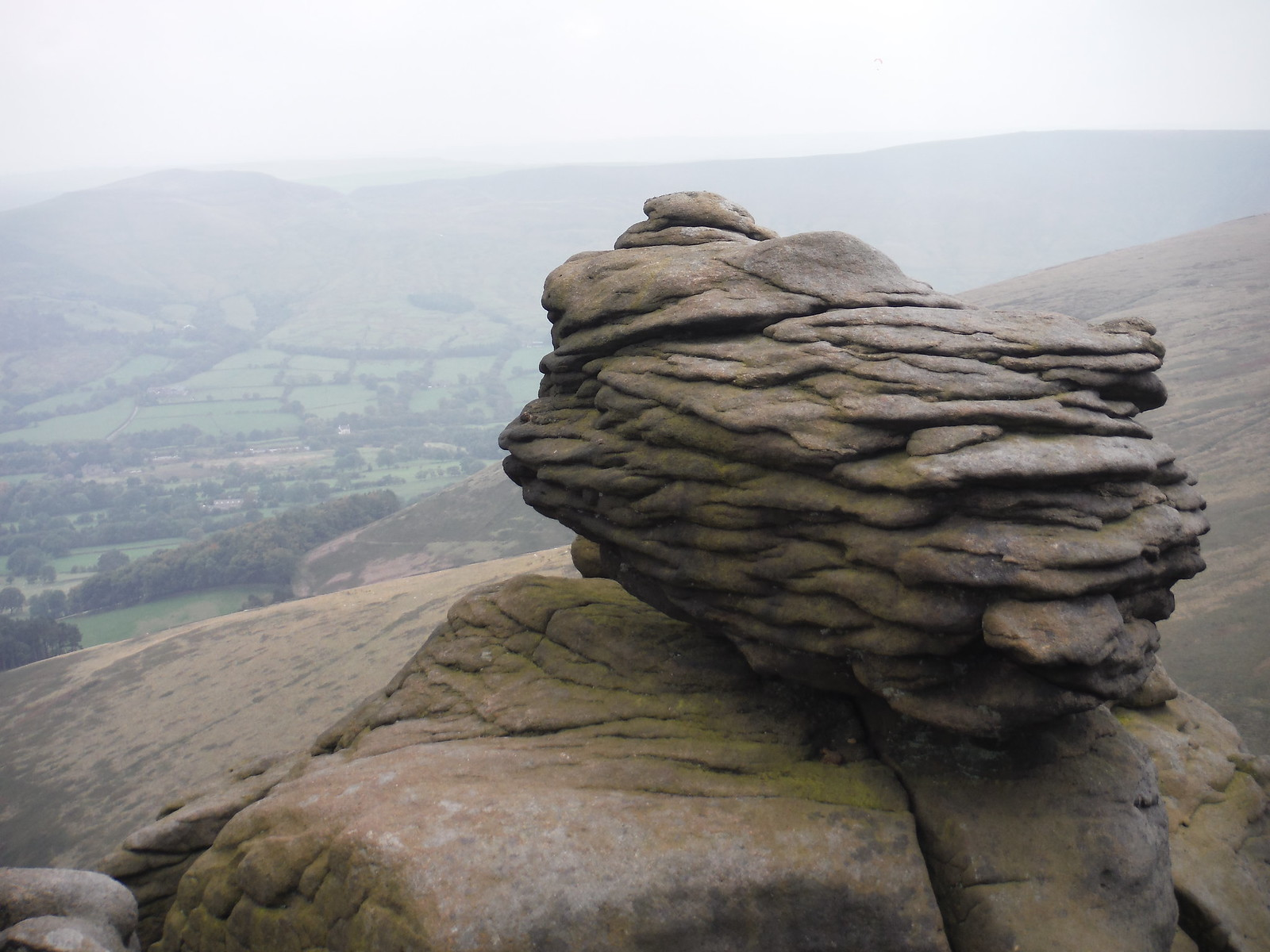 Rock, Ringing Roger SWC Walk 303 - Edale Circular (via Kinder Scout and Mam Tor)