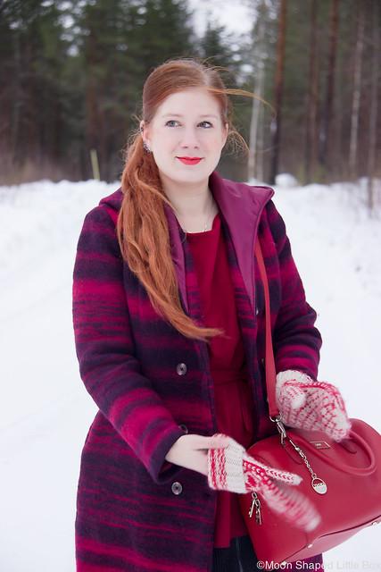 Fashionblogger, raidallinen villakangastakki