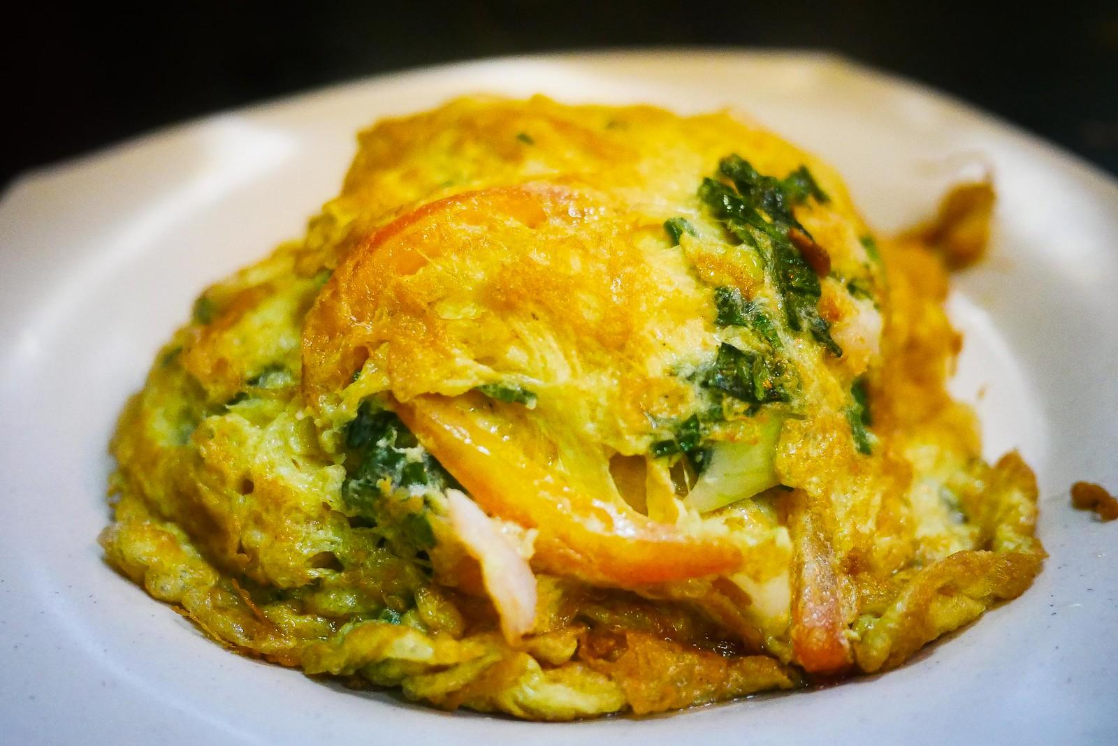 Omelette rice landscape