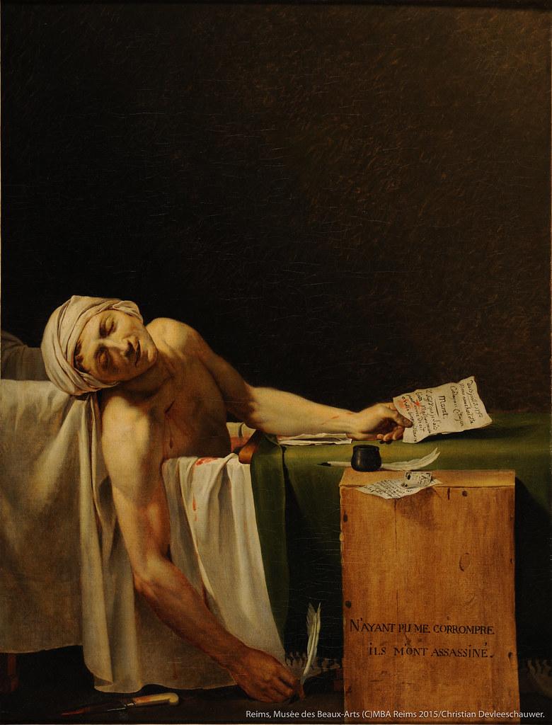 ジャック=ルイ・ダヴィッド(および工房)の《マラーの死》(1793年7月13日以降)