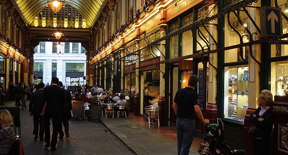Fietsen in Londen: Harry Potter, Leadenhall Market | Mooistestedentrips.nl