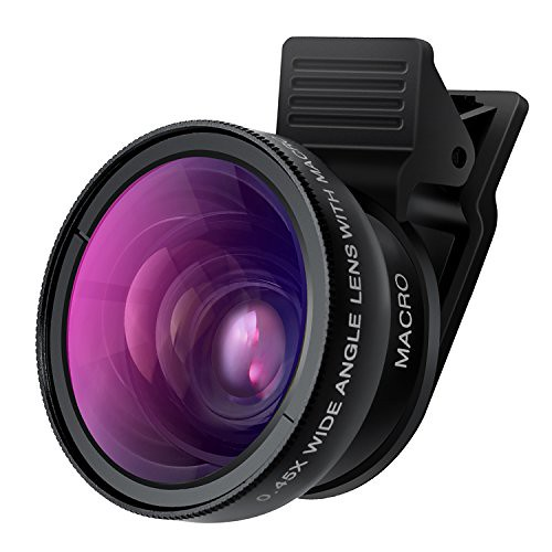 Cell Phone Camera Lens - TURATA 2 in 1 Professional HD Camera Lens Kit 0.45X Super Wide Angle & 12.5X Macro Lens for iPhone 8 7 6s 6s plus 6 plus 5s & Most Smartphone, Tablet