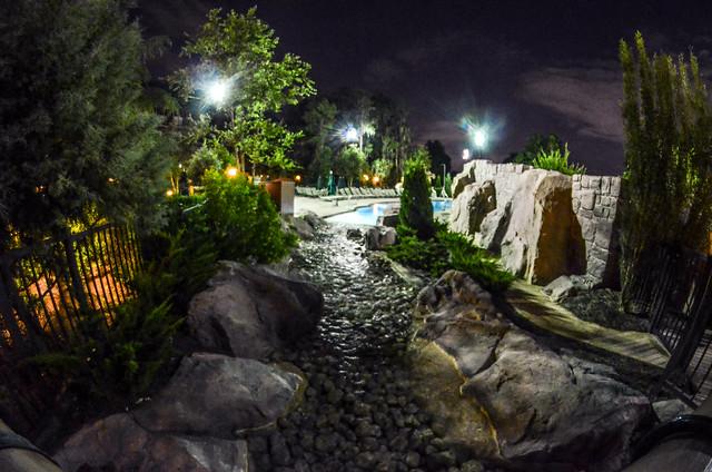 Wilderness Lodge pool night